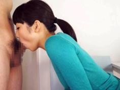 【有本紗世】ノーブラ若妻が手を使わないフェラチオでチンコを味わう!